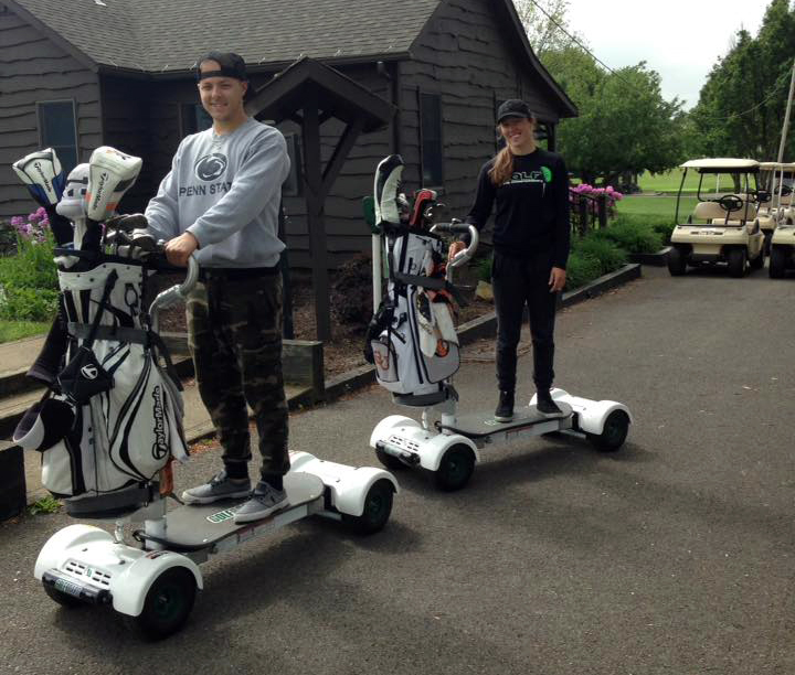Golf Boarding Couple